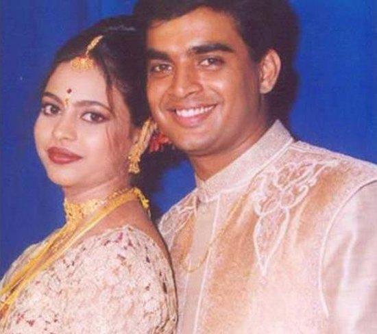 R Madhavan and his wife, Sarita