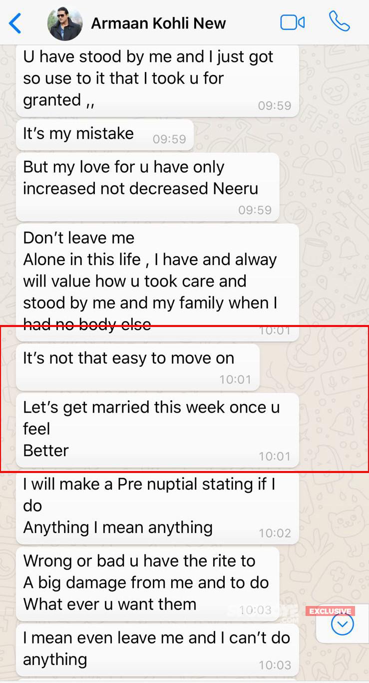 Armaan Kohli Begs Neeru Randhawa To Marry Him