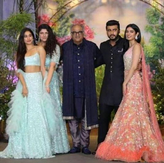 Boney Kapoor With His Children
