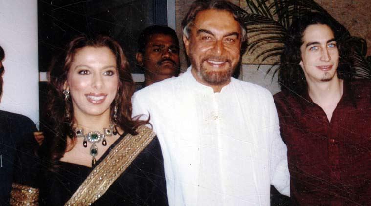 Pooja Bedi with Kabir and Adam