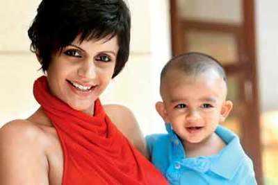 Mandira Bedi with her baby