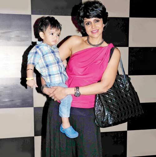 Mandira Bedi with her baby boy