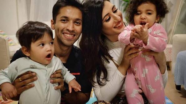 Avantika Mohan with her baby girl