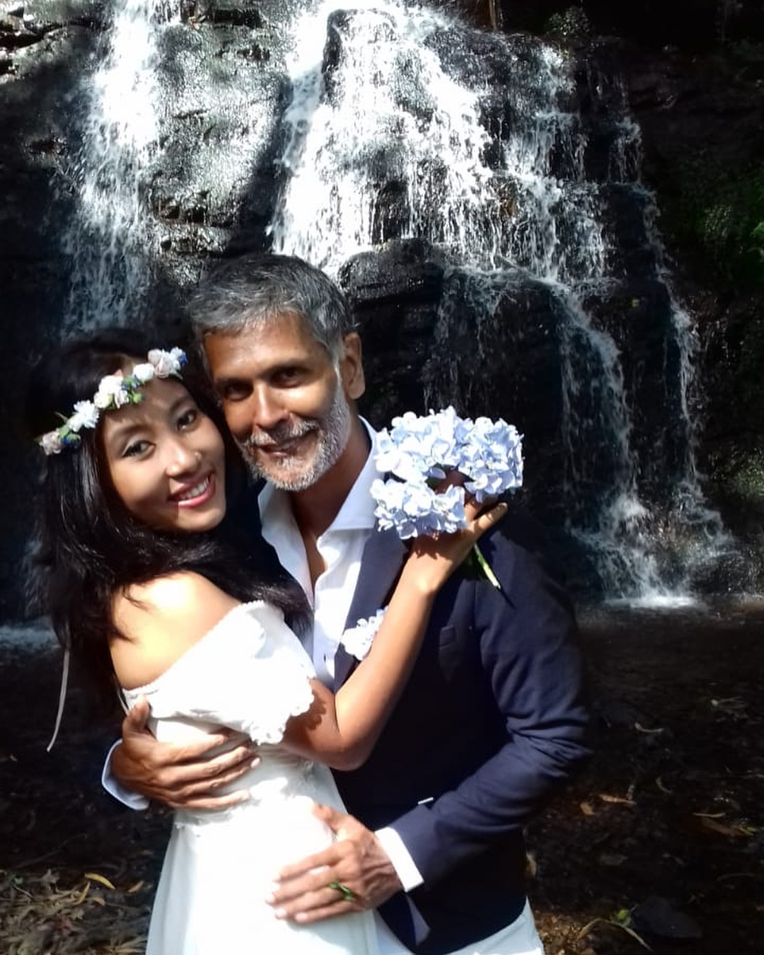 Milind Soman and Ankita Konwar