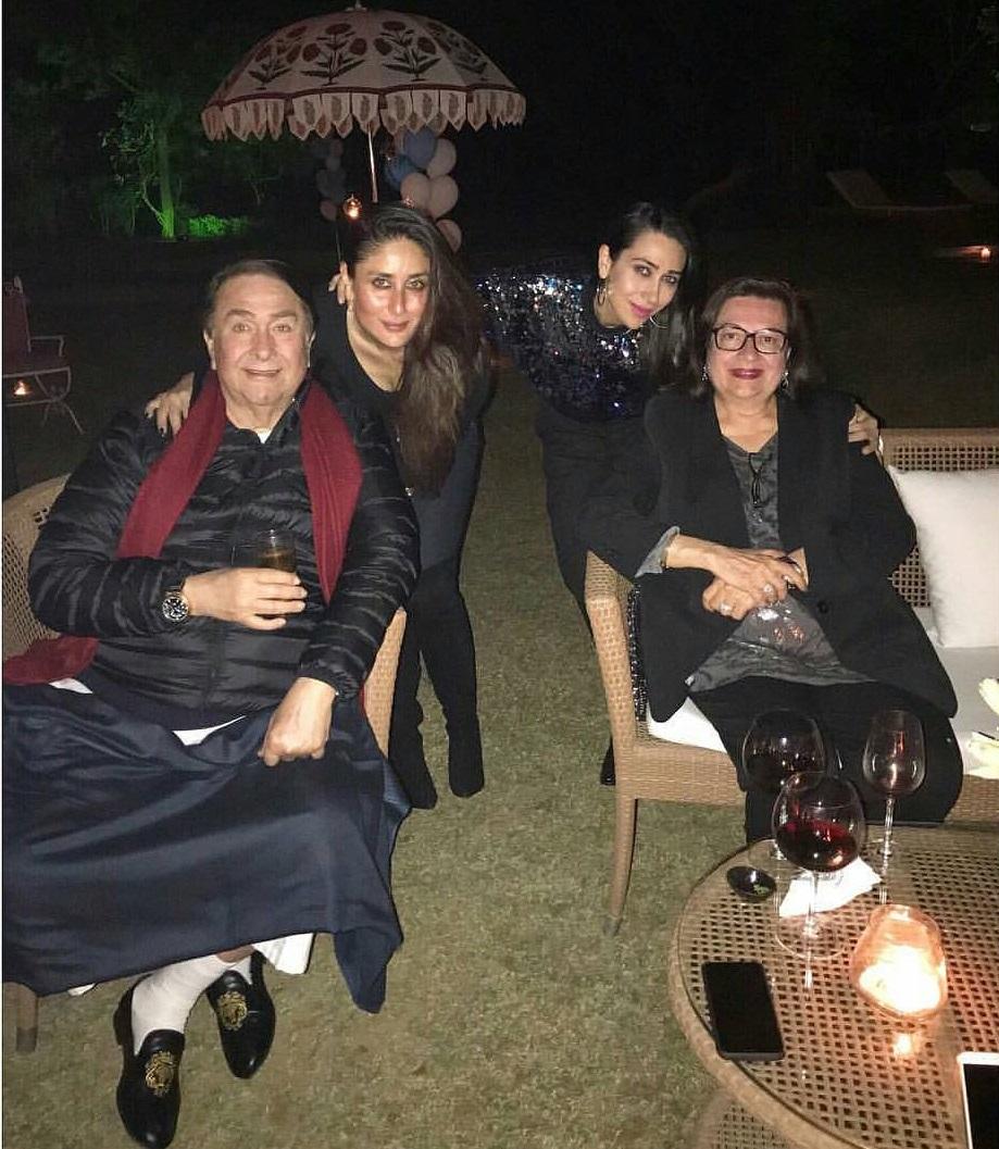Randhir Kapoor And Babita Kapoor with Bebo and Lolo