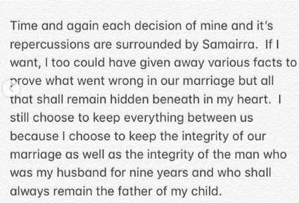 Juhi Parmar open letter to ex husband