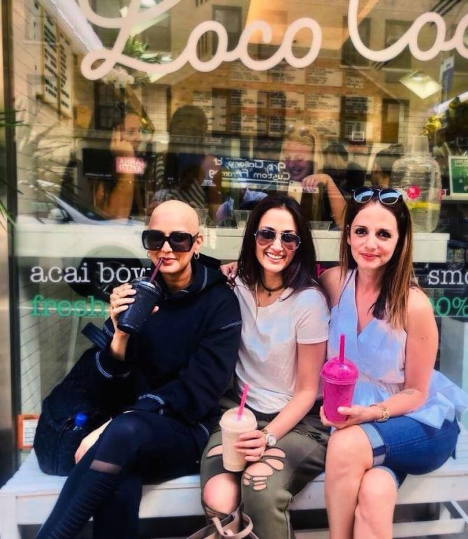 Pics From Sussanne Khan's Visit To Sonali Bendre