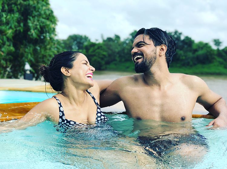 Hina Khan And Rocky Jaiswal Pics From Mini Vacation On A Hill Station