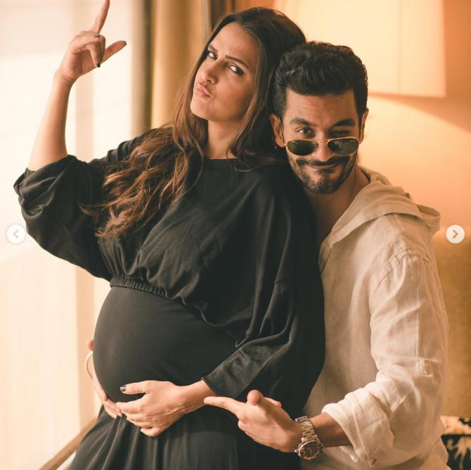 Neha Dhupia Flaunts Her Baby Bump After Announcing Her Pregnancy