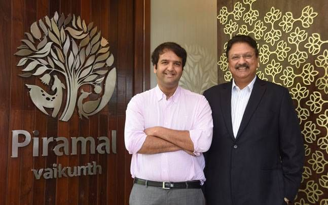 Anand Piramal with father Ajay Piramal