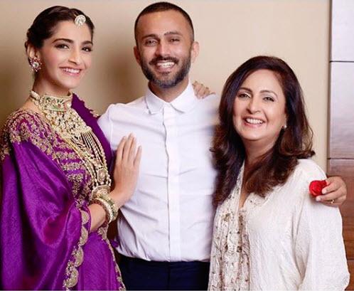 Sonam Kapoor Ahuja, Anand Ahuja and Priya Ahuja
