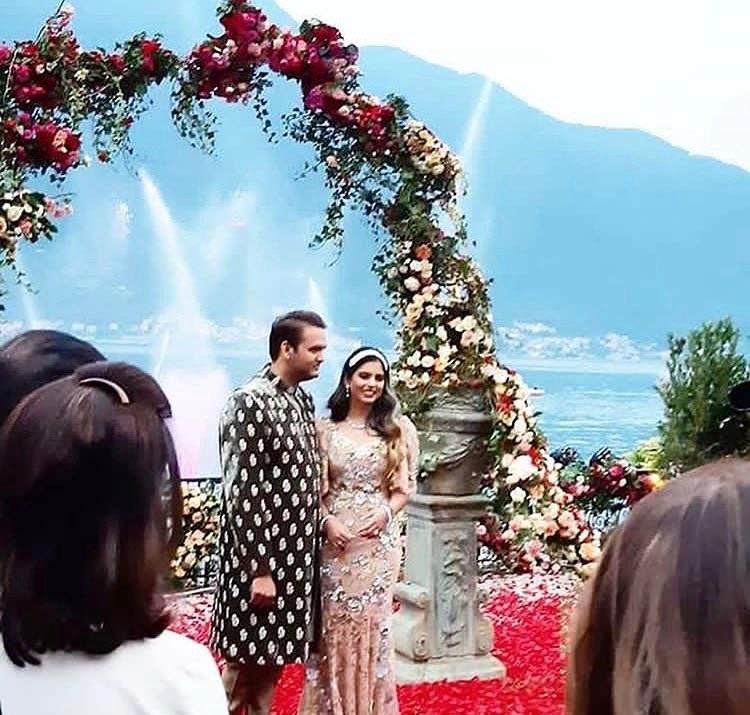 Isha Ambani Engagement Gown
