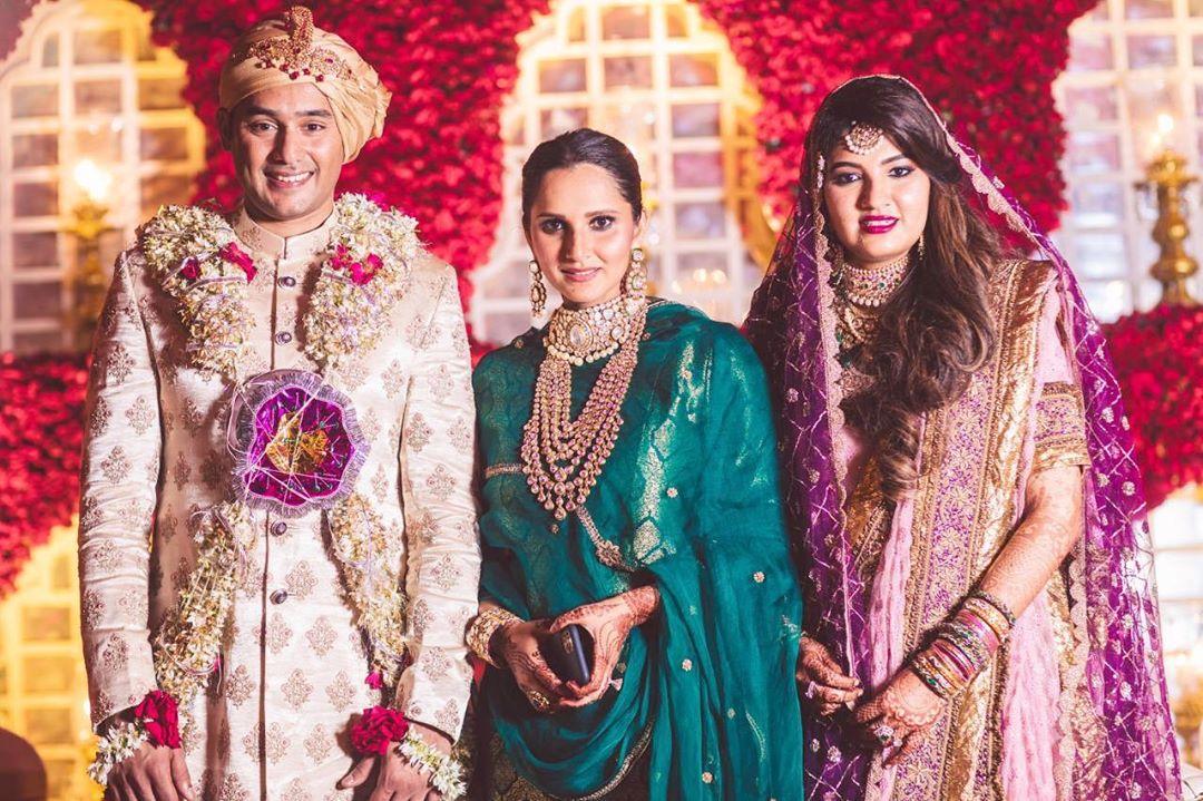 Sania Mirza, Anam Mirza and Asad