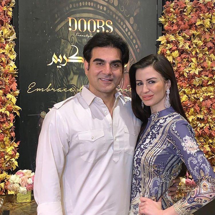 Arbaaz and Giorgia