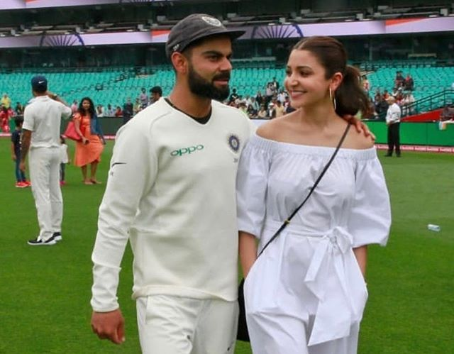 Virat and Anushka celebrate India's win
