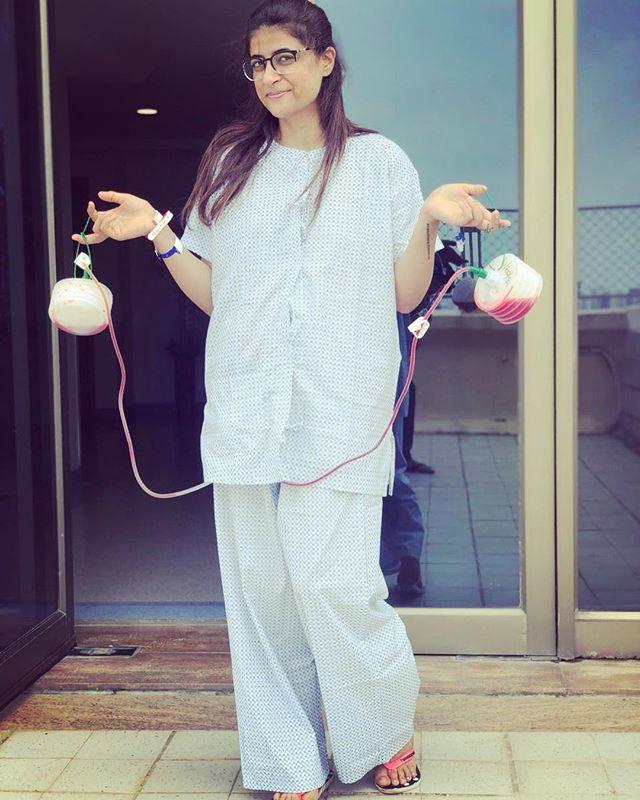 Tahira Kashyap at teh hospital