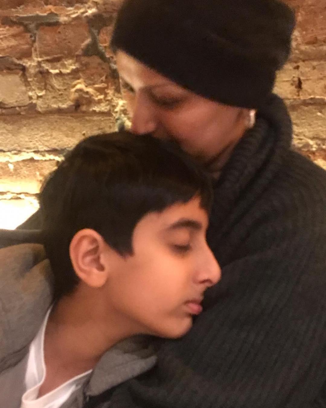Sonali With son Ranveer