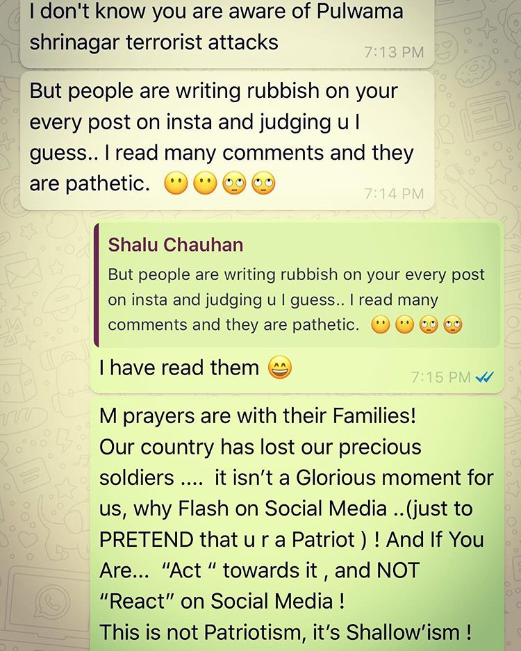 Rubina Dilaik's reply to the trolls