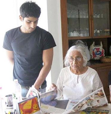 Prateik Babbar with his grandmom