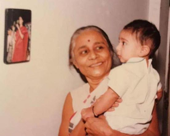 Prateik and his grandmom picture