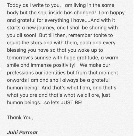 Juhi Parmar Writes An Open-Letter