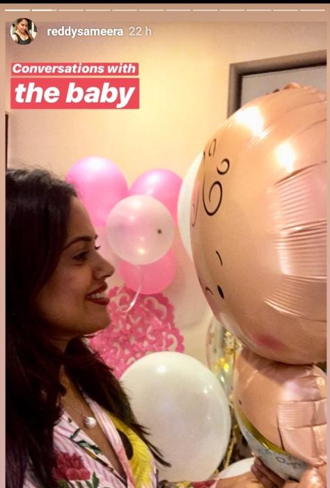 Sameera Reddy baby shower