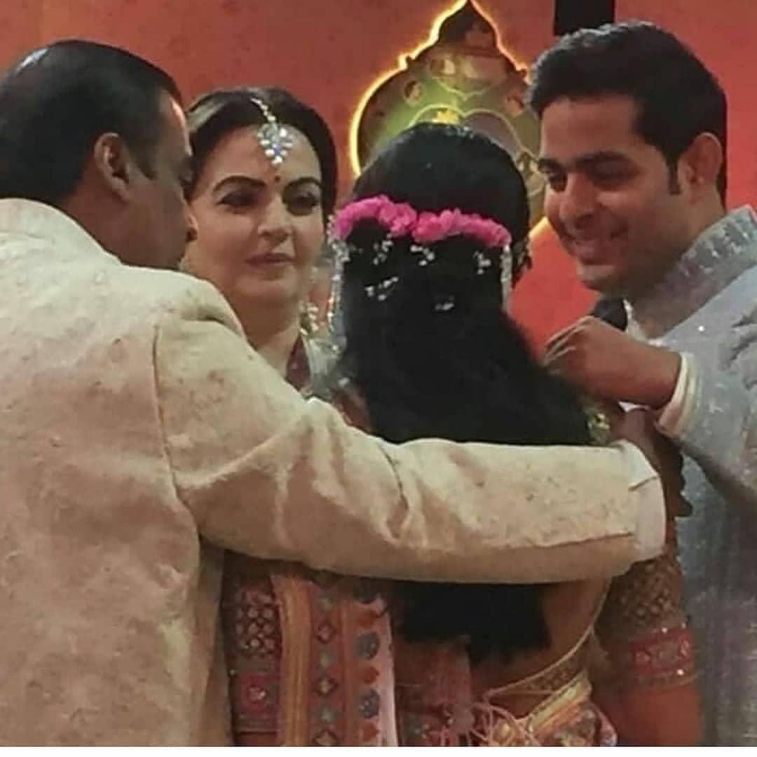Shlola Mehta with the Ambanis