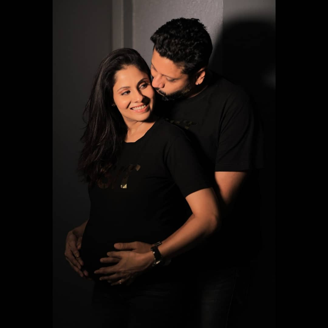 Chhavi Mittal with her husband, Mohit Hussein