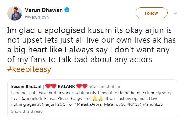 Varun reply