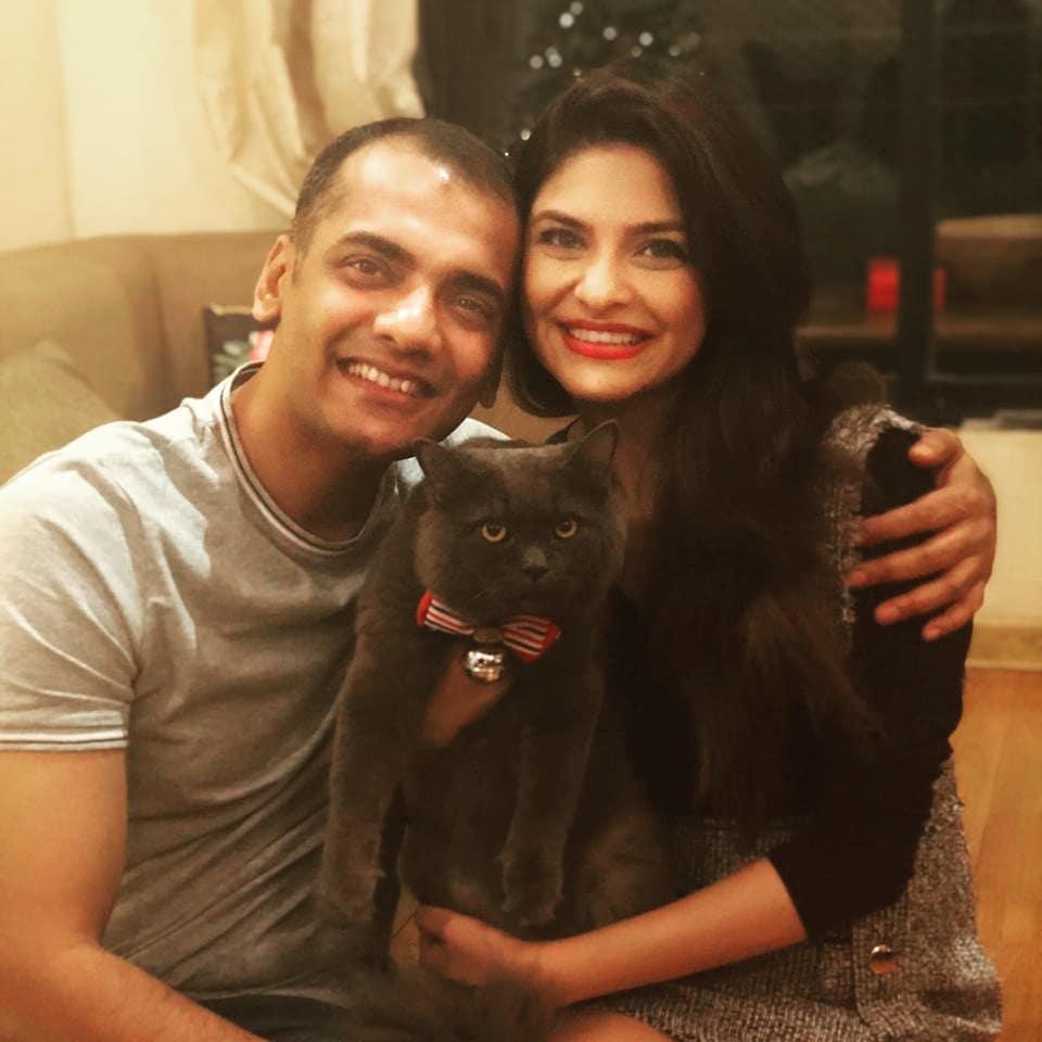 Neha Kaul with her husband