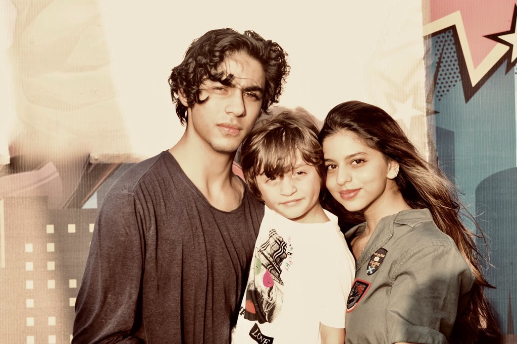 Aryan Khan, Suhana Khan And AbRam Khan