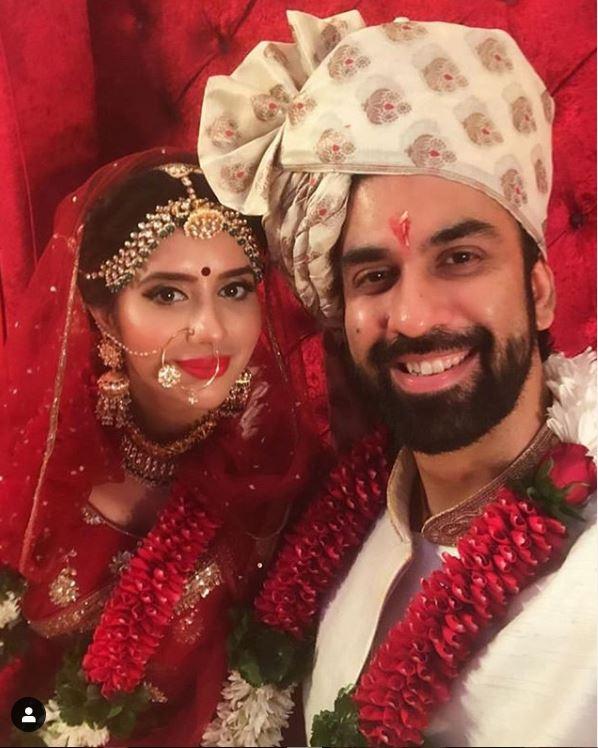 Rajeev Sen and Charu Asopa on their wedding day