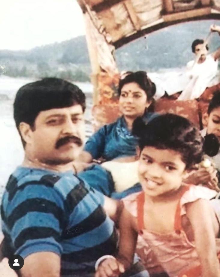 Priyanka Chopra with father
