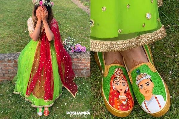 Quirky bridal heels