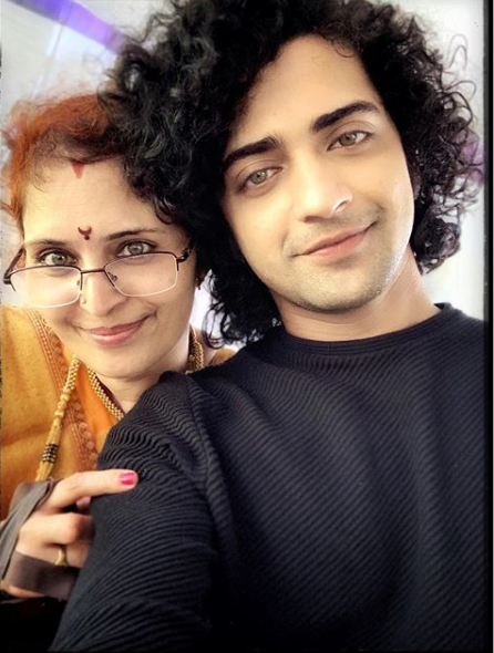 Sumedh and his mother