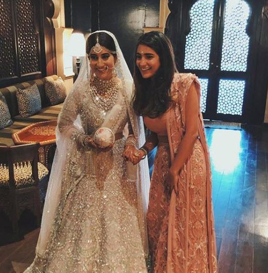 keshvi white kaleera bride