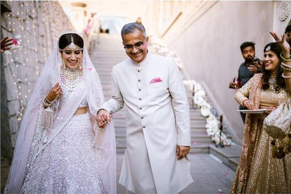 keshvi wore white kaleera and chooda