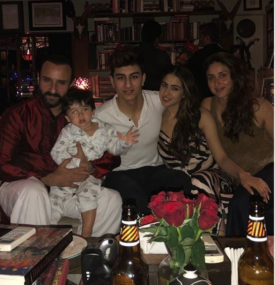 saif ali khan and kareena with kids