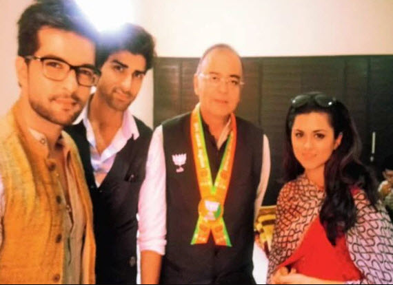 Arun Jaitley and Ridhi Dogra