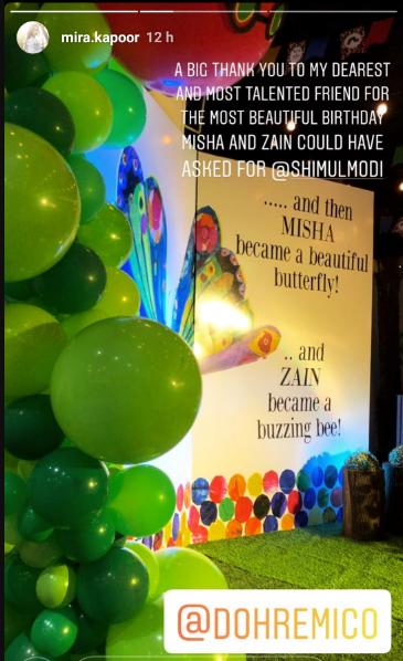 Misha and Zain birthday entry