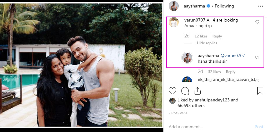 Aayush Sharma cryptic post
