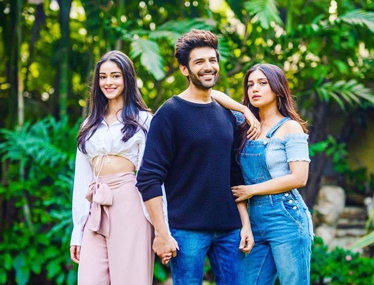 Kartik Aaryan, Ananya Panday and Bhumi Pednekar