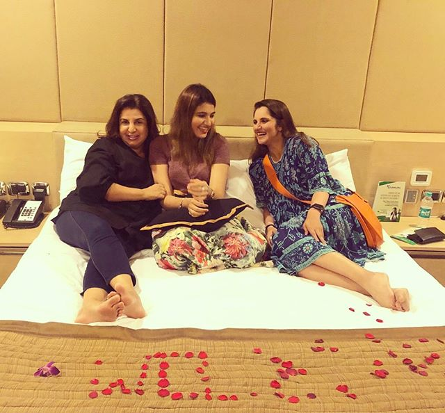 Farah Khan, Sania Mirza and Anam Mirza