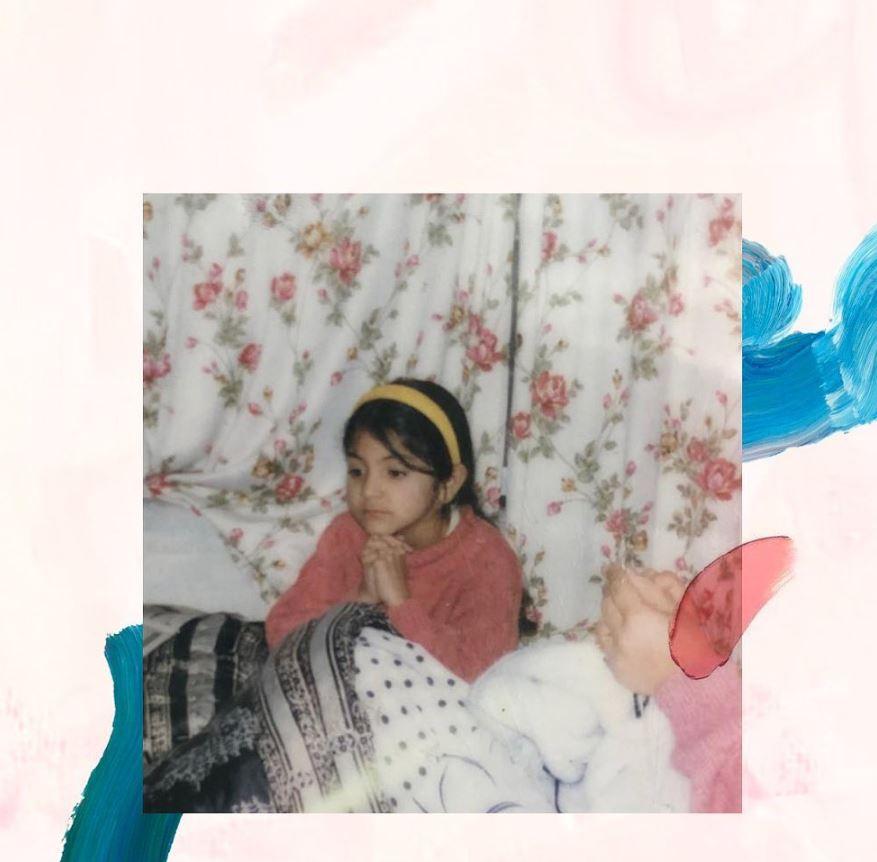 anushka's childhood image