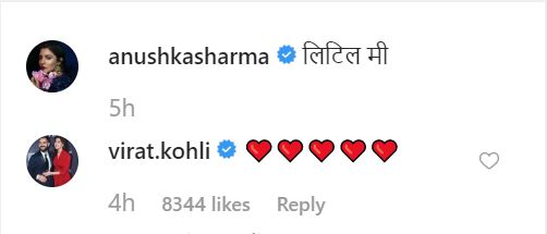 virat's comment on anushka's picture