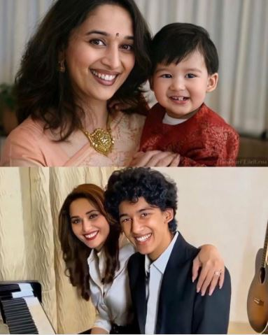 Madhuri Dixit with Son Arin