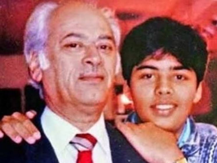 Yash Johar and Karan Johar
