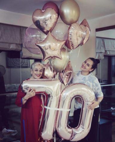 Sonakshi Sinha Mother Birthday