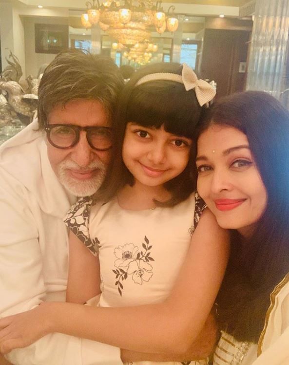 Amitabh Bachchan, Aishwarya Rai Bachchan and Aaradhya Bachchan