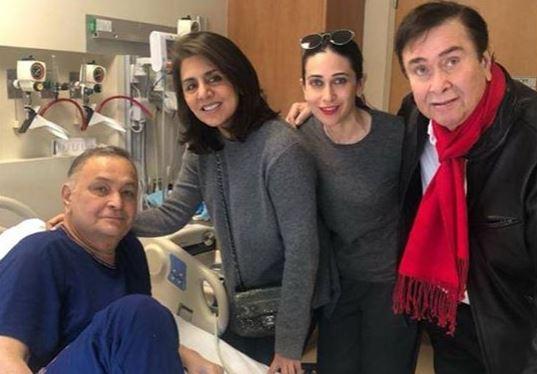 Rishi Kapoor, Neetu Kapoor, Randhir Kapoor and Karisma Kapoor